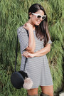 Army-green-over-the-knee-shoedazzle-boots-beige-striped-brandy-melville-dress