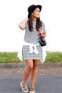 Black-striped-sheinside-dress