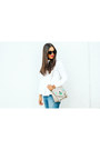 White-collared-zara-shirt-heather-gray-shoedazzle-bag