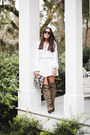 Army-green-over-the-knee-shoedazzle-boots-light-blue-clutch-asos-bag
