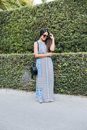 sky blue maxi Maggy London dress