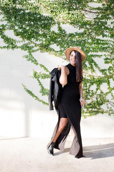 black Zara jacket - black maxi Zara skirt