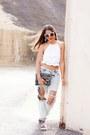 Light-blue-boyfriend-pacsun-jeans-white-zara-top