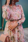 Light-pink-floral-zara-dress