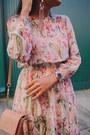 Light-pink-floral-zara-dress
