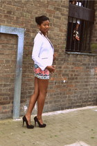 Bershka skirt - H&M jacket - Topshop accessories - Primark heels