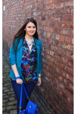 Promod top - H&M blazer - Dorothy Perkins bag - Primark necklace