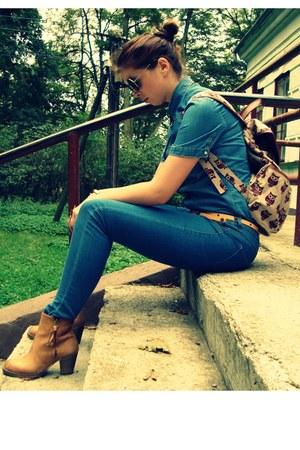Bershka bag - wojas boots - Dorothy Perkins shirt - Bershka pants