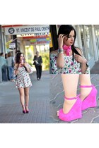 bubble gum cotton vintage dress - bubble gum dress