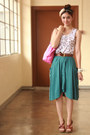 Bubble-gum-kate-spade-bag-teal-asymmetrical-from-landmark-skirt