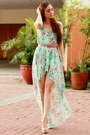 Aquamarine-high-low-sheinside-dress