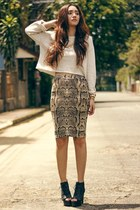 pencil skirt H&M skirt - cropped Kate-Katy sweater