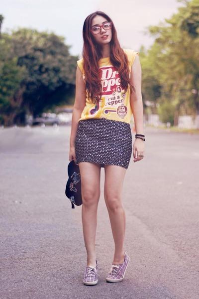 black sequined sammydress skirt