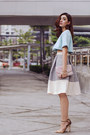 Light-blue-cropped-choies-top-silver-midi-isumi-melania-asto-group-skirt
