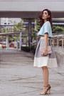 Light-blue-cropped-choies-top-silver-midi-isumi-melania-asto-group-skirt
