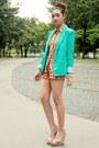 Aquamarine-choiescom-blazer-bubble-gum-floral-primark-shorts