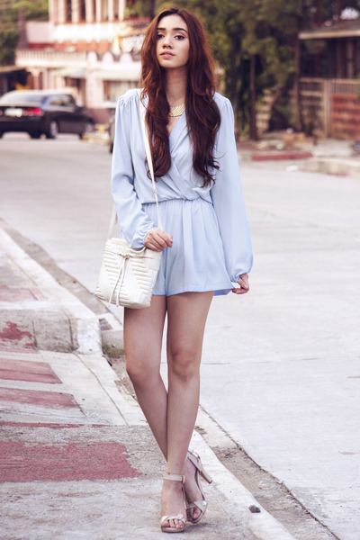 light blue wrap-around inlovewithfashion romper