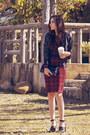 Crimson-midi-tartan-omg-fashion-dress