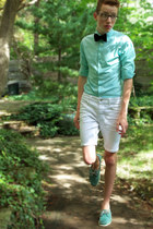 aquamarine sperry shoes - aquamarine Express shirt - white asos shorts