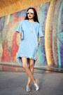 Sky-blue-sheinside-dress