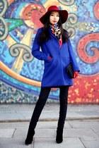 blue Sheinside coat - black Revolve bag