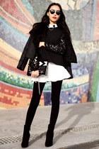 black Chicwish jacket - black Chicwish sweater - black Choies sunglasses