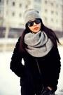 Silver-zara-hat-silver-zara-scarf