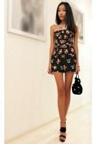 black Topshop shorts - black pull&bear top