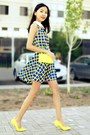 yellow Zara bag - yellow Spring heels