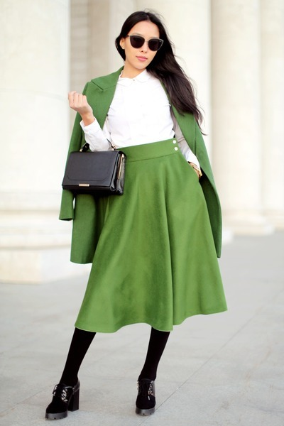 green aTani skirt - black Freyrs sunglasses