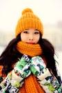 Teal-miss-sixty-coat-yellow-zara-hat-yellow-zara-scarf