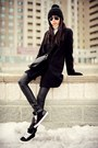 Black-stradivarius-coat-black-zara-hat-black-mart-of-china-bag