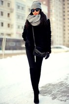 silver Zara scarf - silver Zara hat