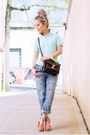Sky-blue-boyfriend-vivayou-jeans-aquamarine-polo-uniqlo-shirt