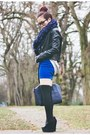 Navy-tote-justfab-bag-navy-snood-asos-skirt-heather-gray-nowistyle-top