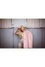 Light-pink-faux-fur-thp-shop-coat-gold-cuff-zara-earrings