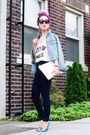 Navy-ami-clubwear-jeans-light-blue-denim-h-m-jacket-white-clutch-zara-bag
