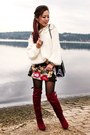 Ruby-red-knee-high-justfab-boots-camel-leopard-print-h-m-coat
