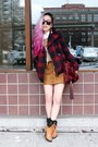 Bronze-faux-fur-shoedazzle-boots-brick-red-plaid-old-navy-coat