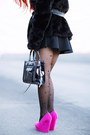Hot-pink-wedges-urbanog-shoes-black-faux-fur-h-m-coat