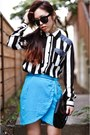 White-striped-forever-21-shirt-black-rounded-free-people-sunglasses