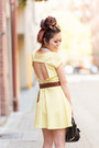 Light-yellow-back-cutout-charlotte-russe-dress