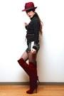 Brick-red-justfab-boots-white-tracyeinny-dress
