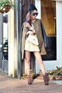 Dark-brown-open-toe-steve-madden-boots-olive-green-quilted-sleeve-h-m-coat