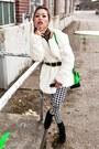 Black-steve-madden-boots-white-faux-fur-nowistyle-coat
