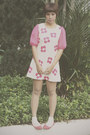 Bubble-gum-lush-serendipity-dress-ivory-lace-socks-daiso-socks