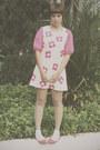Bubble-gum-lush-serendipity-dress-ivory-lace-socks-daiso-socks