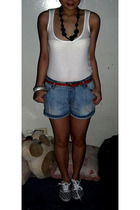 Topshop top - Zara shorts - Dorothy Perkins belt - Dept Store shoes