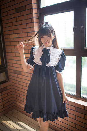 navy asinw dress