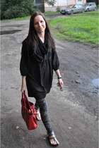 oazis bag - Vero Moda dress - new look scarf - Zara pants - Topshop sandals